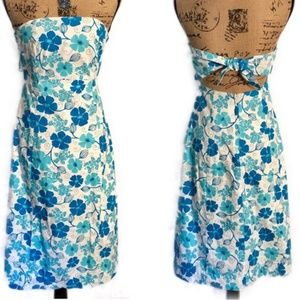 Strapless Blue Floral & Sea Turtle Lilly Pullitzer